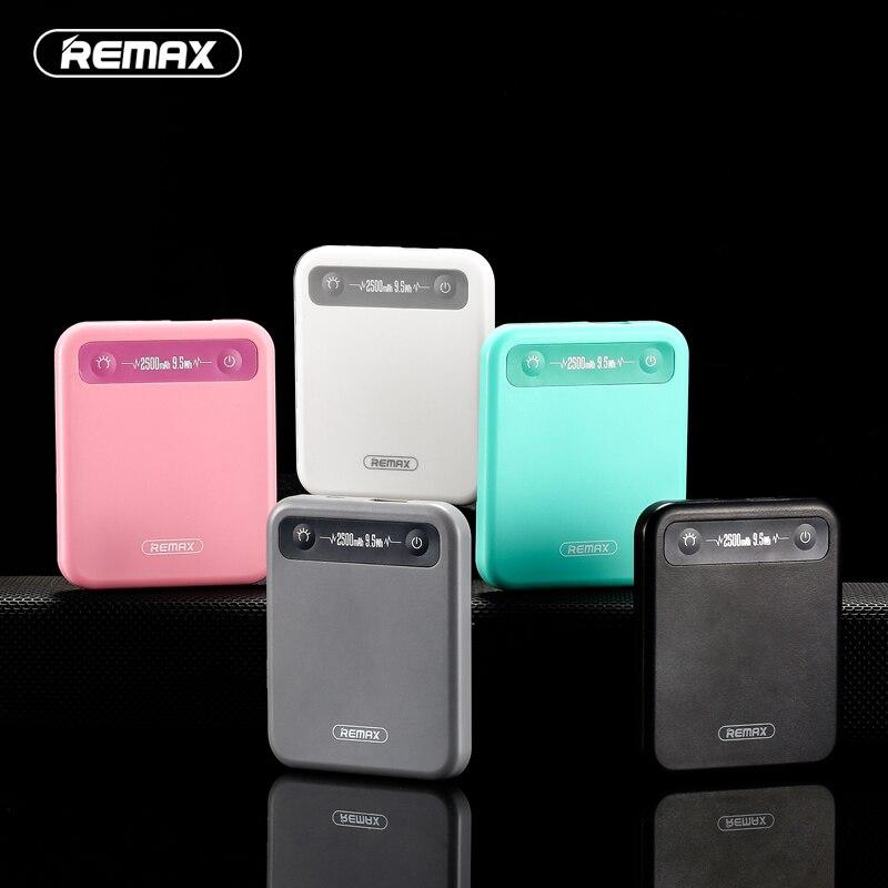 Original Remax 2500mAh Pino Small Mobile Phone Large Capacity Mini Power Bank General Charge Treasure Extra Power Backup Power