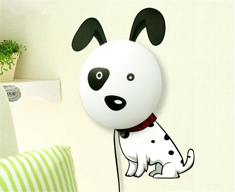 Novelty dog pig sunflower cartoon lamp wall sticker diy for Wallpaper home cartoon