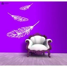 YOYOYU Vinyl Wall Decal Scattered Feathers Beautiful Dreams Living Room Bedroom Home Art Decoration Stickers FD182 крис де бург chris de burgh beautiful dreams