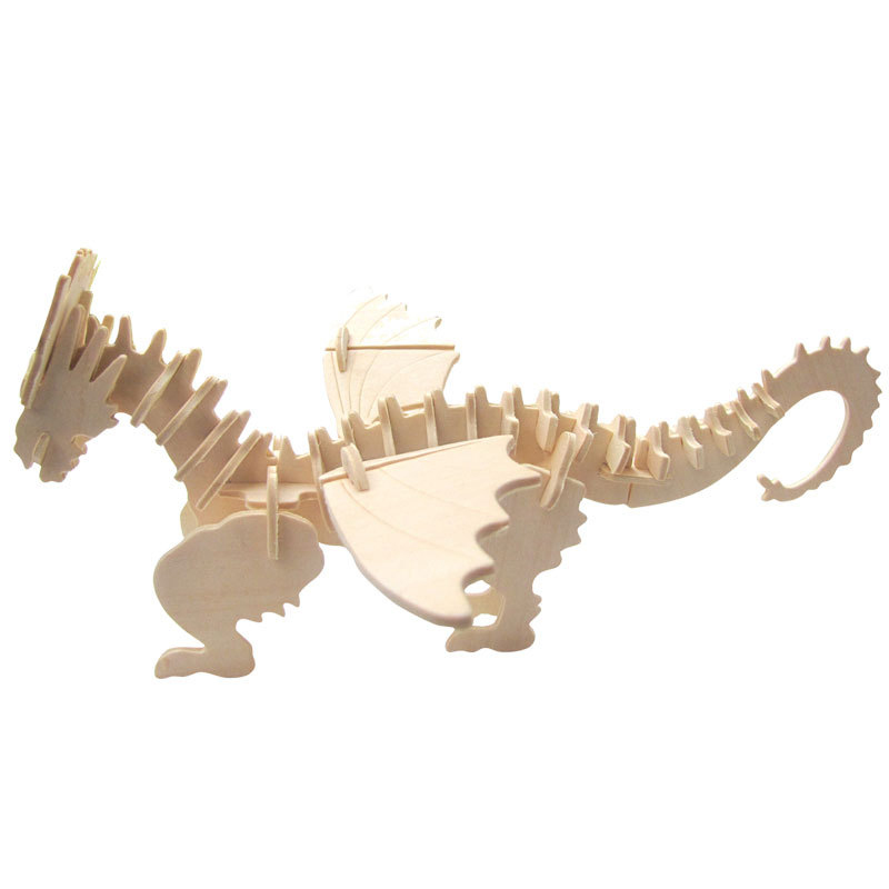 Image 4 - DIY dinosaur puzzle 3D three dimensional wooden children's educational toys pupils handmade materials-in Puzzles from Toys & Hobbies