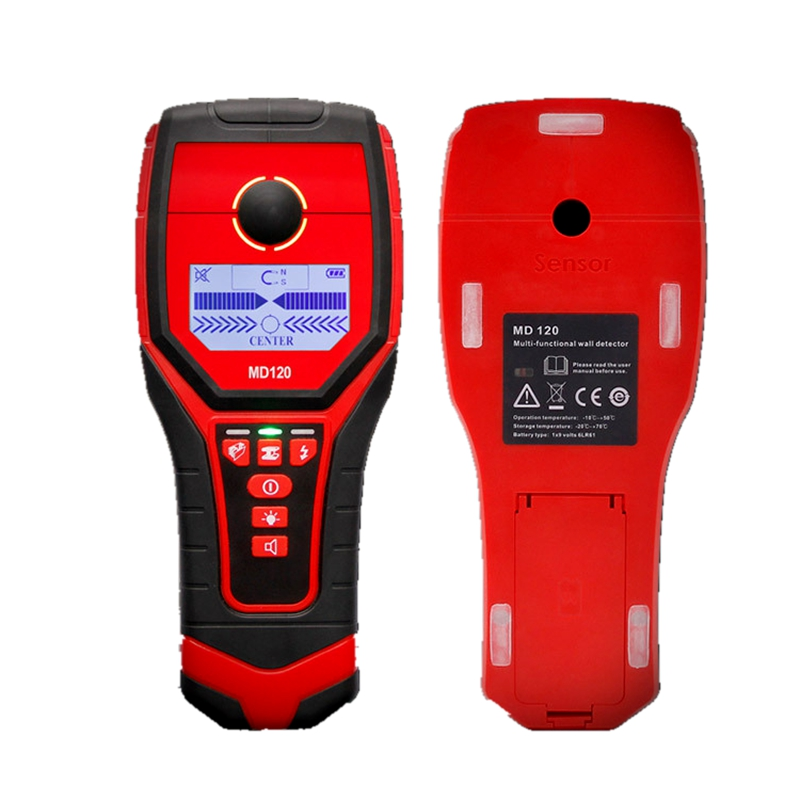 Portable Wall Detector Magnetic Metal Copper Wood AC Charged Cable Wall Scanner Backlit Beep Indication Wall Diagnostic Tools uni t ut387b digital wall scanner detector ac wire metal dedector wood testing 80m 100% brand new