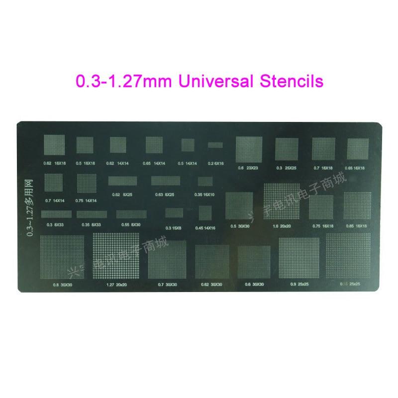 31 in 1 pc, 0.3-1.27mm universal stencils for mobile phones,cellphone stencil,bga stencil