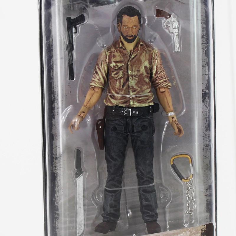 12cm AMC Series NECA The Walking Dead Rick Grimes PVC Action Figure with New accessoriews Toy мегафон amc se116 продам киев