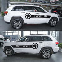 JHO Customized Whole Car Body Stickers For Jeep Grand Cherokee 2014 2018 2015 2016 2017 Drawing Lines Decal Vinyl Car Styling