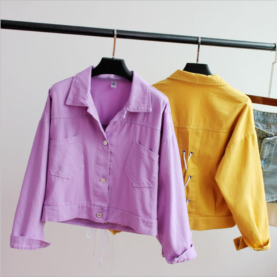 2019 Spring and Autumn new loose denim   jacket   female wild strap tops   Basic     Jackets