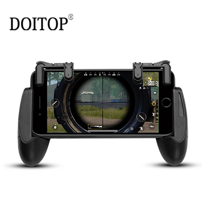 DOITOP PUBG Game Gamepad For Universal Mobile Phone Game Controller Shooter Trigger Fire Button For IOS iPhone X 8 7 6 Samsung