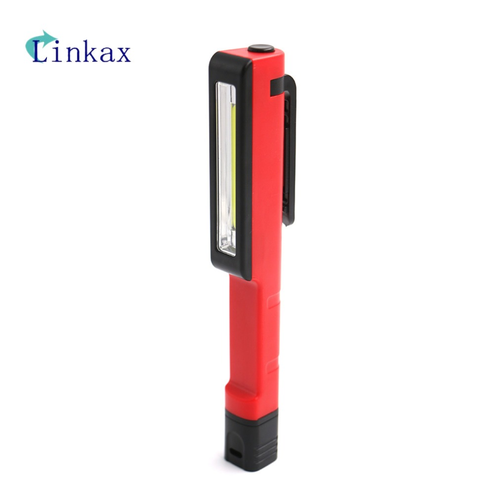 Mini COB LED Flashlight Multi-purpose Emergency Working Light Magnet Pocket Clip-on Super Bright Camping Pen Light Torch Lamp