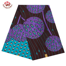 2019 Ankara African Polyester Wax Prints Fabrics Binta Real  Wax High Quality 6 yards African Fabric for Party Dress FP6206