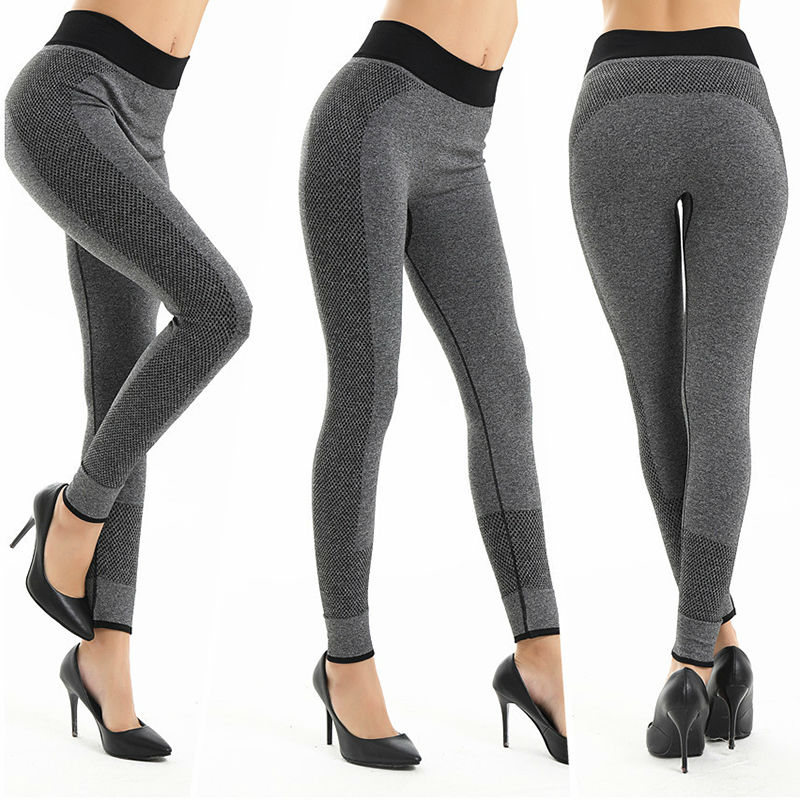 Women s fitness leggings knitted ankle length workout trousers bodybuilding quick dry clothes breathable winter pants