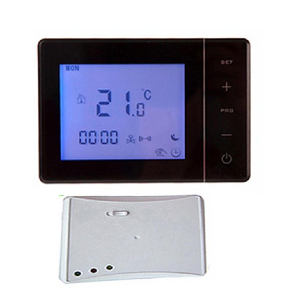 HY01RF RF sans fil Thermostat d'ambiance mur chaudière à gaz chauffage télécommande Protection contre le gel capteur NTC avec rétro-éclairage bleu LCE