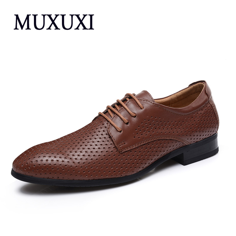 High Quality Genuine Leather Men Shoes Soft Fashion Brand Men Comfy Breathable Shoes Casual Business Shoes 2016 new high quality genuine leather men business casual shoes men woven breathable hole gentleman shoes brand taima 40 45