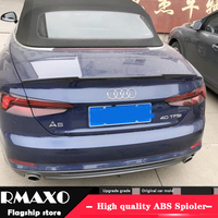 For AUDI A5 Spoiler 2014 2018 AUDI A5 COUPE TWO DOORS High Quality ABS Material Car Rear Wing Primer Color Rear Spoiler