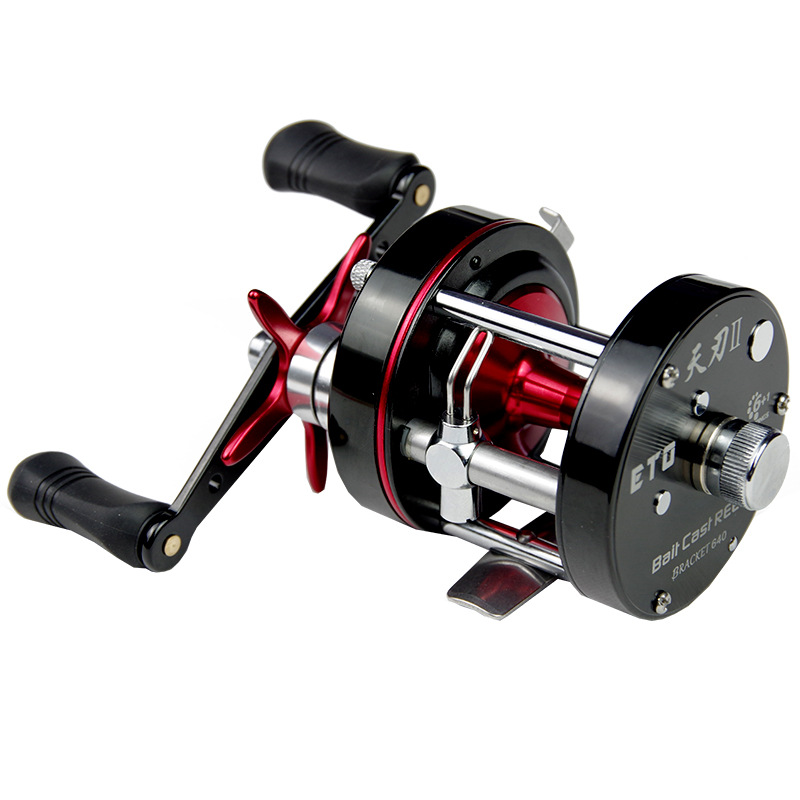 ФОТО Top Prodoct Baitcasting Fishing Reel Left/Right Fly Fishing Lure Wheel 6+1BB Black All Metal Sea Cast Drum Wheels Match