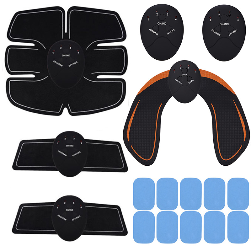 Unisex EMS Hips Trainer Electric Muscle Stimulator Wireless Buttocks Abdominal ABS Stimulator Fitness Body Slimming Massager