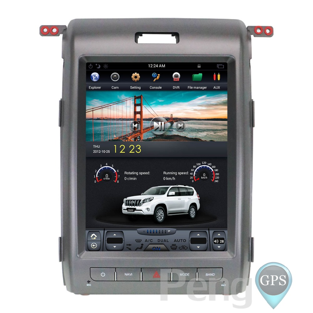 Tesla Style 12 1 Inch Android 6 0 Car GPS Navigation DVD Player Unit for  Ford F150 2009 2010 2011 2012 2013 2014 Double Din Unit