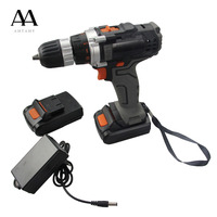 AMYAMY 12V DC Lithium Ion Battery Cordless Drill Power drill Screwdriver Electric Drill Tools 2 Lithium Ion Battery 1201