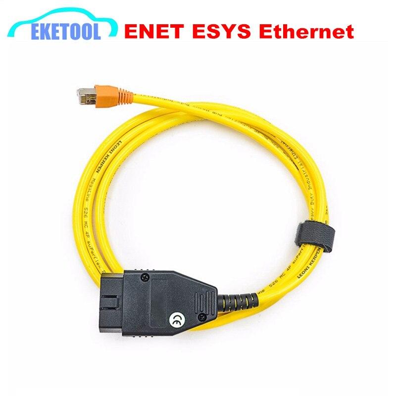 Prix pour ENET Données Câble Pour BMW Ethernet à OBD2 Interface Câble 16Pin Connecteur ESYS 3.23.4 V50.3 Données E-SYS ICOM Codage Pour F-Série