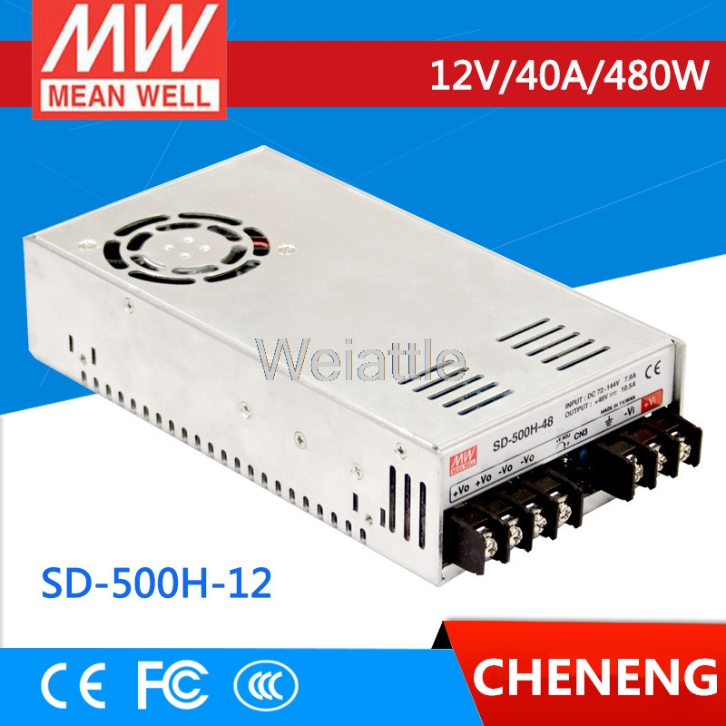 цена на MEAN WELL original SD-500H-12 12V 40A meanwell SD-500 12V 480W Single Output DC-DC Converter