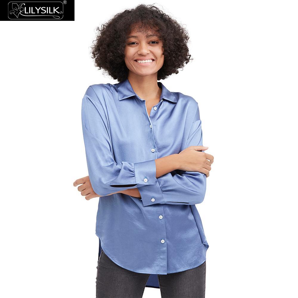 LilySilk Bluse Shirt Frauen Casual Stil Seide Grund Damen Neues Freies Verschiffen-in Blusen & Hemden aus Damenbekleidung bei  Gruppe 1