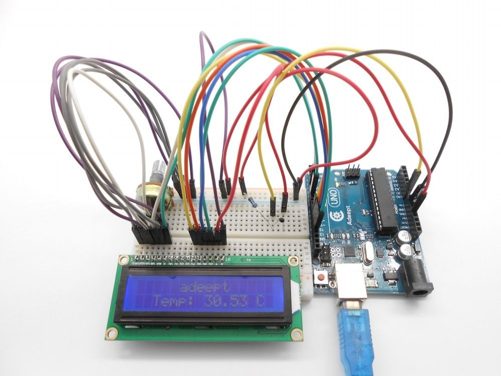 Adeept DIY Electric New Project LCD1602 Starter Kit For Arduino UNO ...