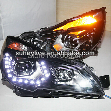 For Subaru Outback LED Angel Eyes Head Light 2010-12  PW subaru samdar во владивостоке