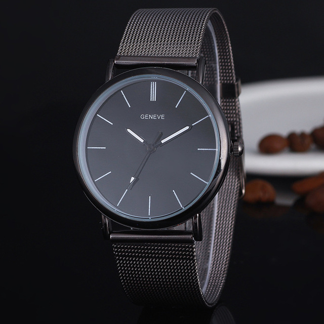 Fashion Black Ladies Watch high Quality Ultra-thin Quartz Watch Elegant Dress La