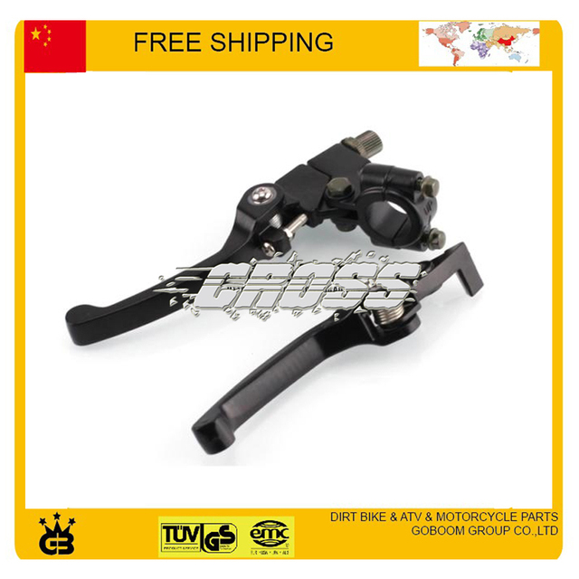 free shipping Dirt Pit Bike foldable clutch front brake lever clip black color 50cc 250cc accessories kayo taotao bse crf ttr
