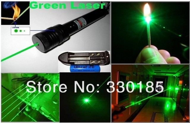 high power lazer Military 2w 2000mw hand held protable green laser pointer focusable burn matchs burn cigarettes+gift box
