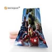 Iron Man Microfiber Fabric Modern Face Towel Bath Towel Size 35x75cm 70x140cm Support Custom Design