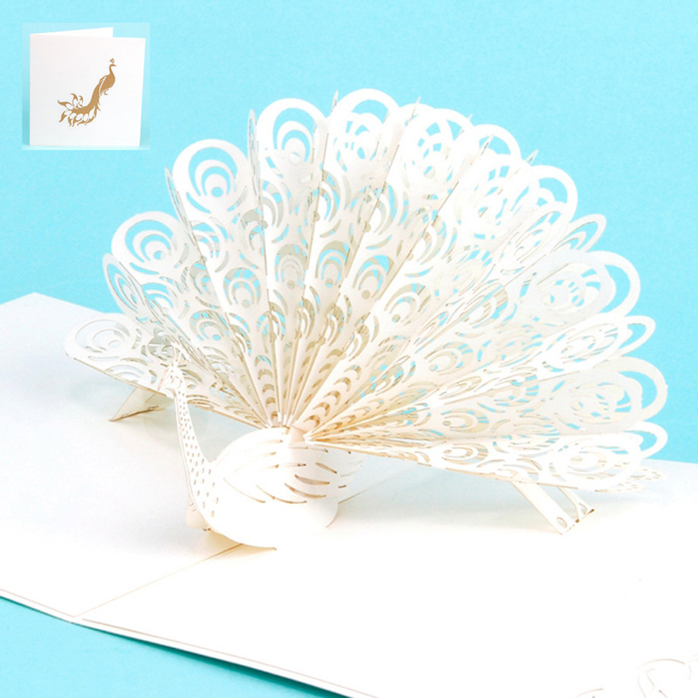 Pokemon Cards Wedding Invitation Card 3d Pop Up Peacock Cards For Lover Happy Birthday Anniversary Greeting Cards Laser Postcard In Cards