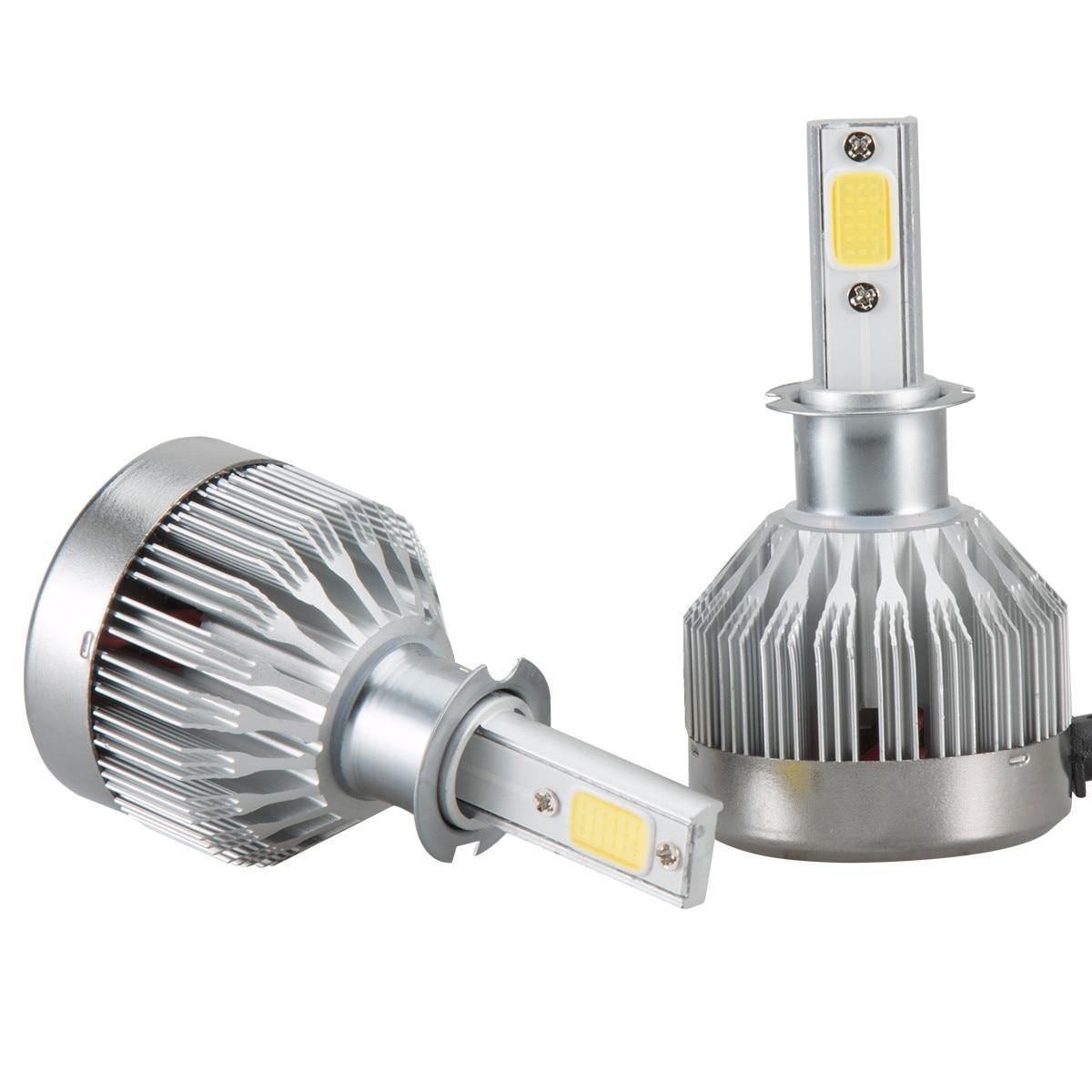 Super bright Car headlights 2x H3 LED Light Headlight Vehicle Car Hi/Lo Beam Bulb Kit 6000k 60W 6000LM @017