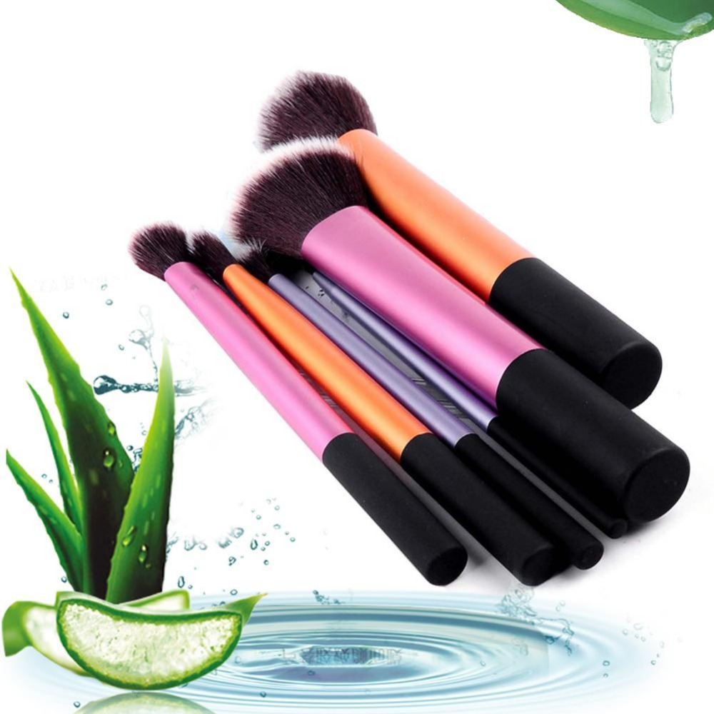 2017 6 PCS Makeup Brushes Set Tools Make-up Toiletry Kit Wool Brand Make Up Brush Set Case Cosmetic Foundation Brush new professional 15 pcs makeup brushes set tools make up toiletry kit make up brush set case cosmetic foundation brush