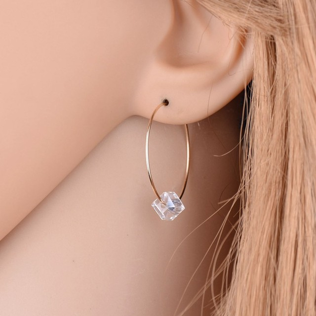 Fashion Earrings Jewelry Circle Imitation Pearls Transparent Earrings For  Women Glass Sexy Retro Earrings Women Gift f5f4db6e0eed