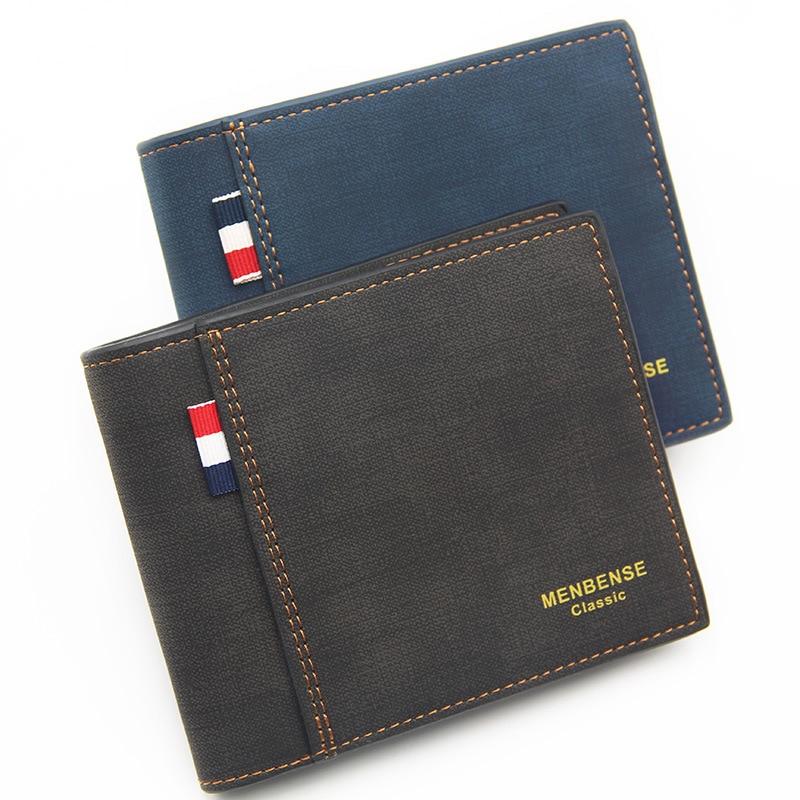 Men's wallet Fashion 2019 Mens Wallet with Coin Bag Zipper Small Money Purses New Design Dollar Slim Purse Money Clip Wallet 111