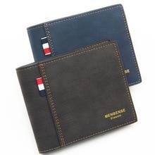 Mens wallet Fashion 2019 Wallet with Coin Bag Zipper Small Money Purses New Design Dollar Slim Purse Clip 111