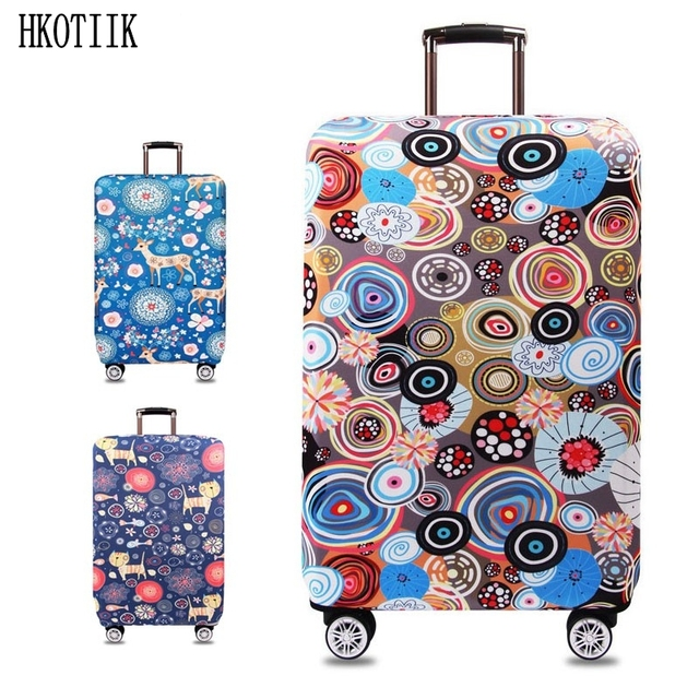 """Suitcase Case Travel Accessories for S / M / L / XL 18-32 """"Inches, Suitcase Elastic Protective Cover, Trolley Case Luggage Cover"""