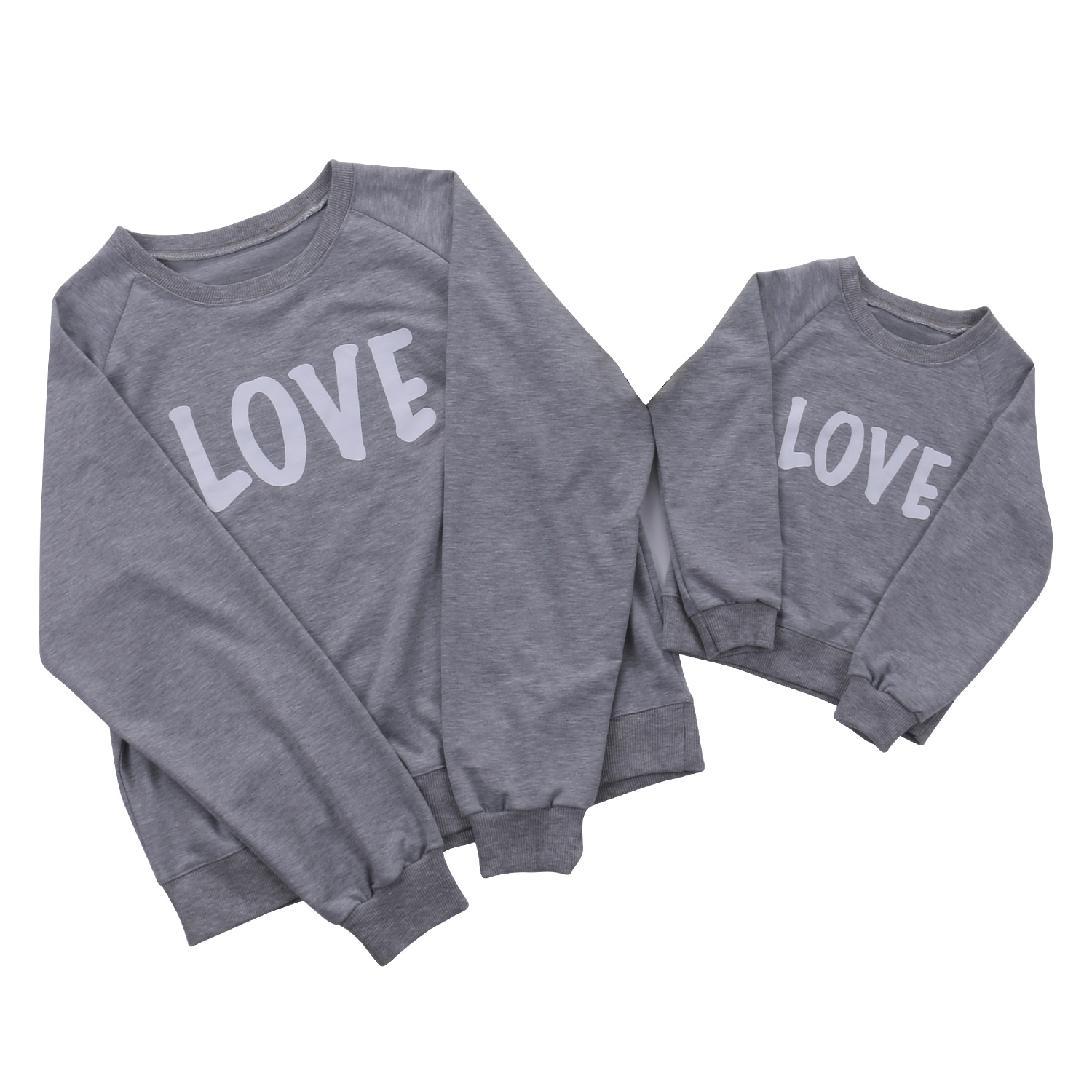 2018 Hot Family Costume Cotton Letter T-Shirt Love Mother Son Daughter Family Outfit Clo ...