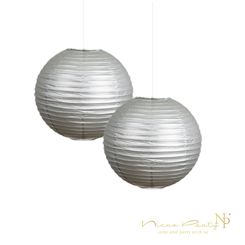Nicro 10u0027u0027 Gold Silver Round Paper Lanterns
