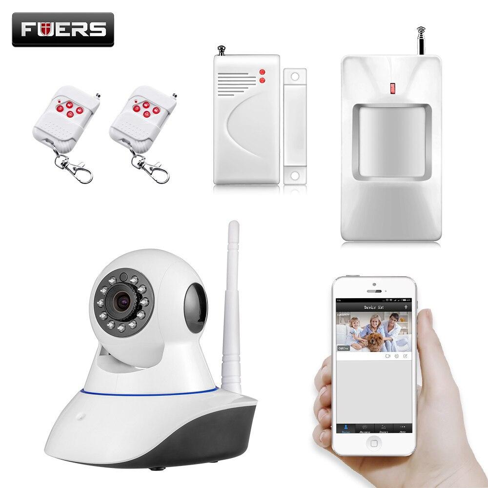 imágenes para 720 P Inalámbrica WIFI HD Control Pan/Tilt Cámara IP Networok App de Control de Movimiento Detector de Puerta/ventana Sensores sistema de Alarma de seguridad