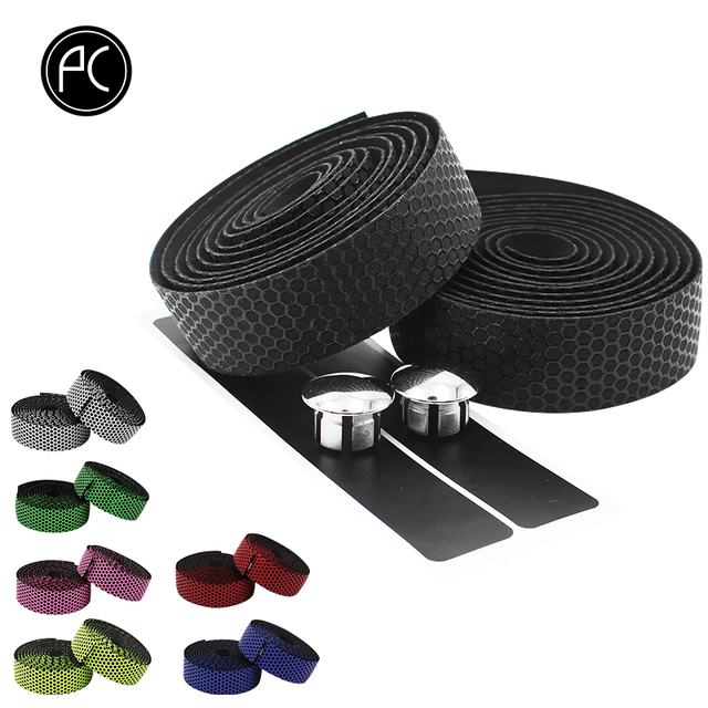 PCycling Bicycle Handlebar Tape Road Bike Handlebar Non-slip Sweat-absorbent Bike Belt Honeycomb Pattern Cycling Accessories 1