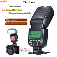 Godox TT685C/N/S/O/F 2.4G TTL Flash Speedlite Wireless Hot shoe flash High speed sync For Canon Nikon Sony Olympus Fujifilm triopo tr 988 professional speedlite ttl camera flash with high speed sync for canon and nikon digital slr camera