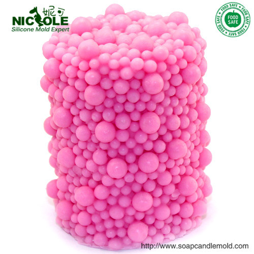 diy cilindro con burbujas de vela del jabn moldes diy hechos a mano de decoracin