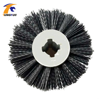120 100 20mm Abrasives Wire Drawing Wheel P80 P120 P240 Drum Brush Burnishing Polishing Wheel Wooden