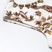 Vestido mini corte recto suelto estampado vintage verano apliques 4