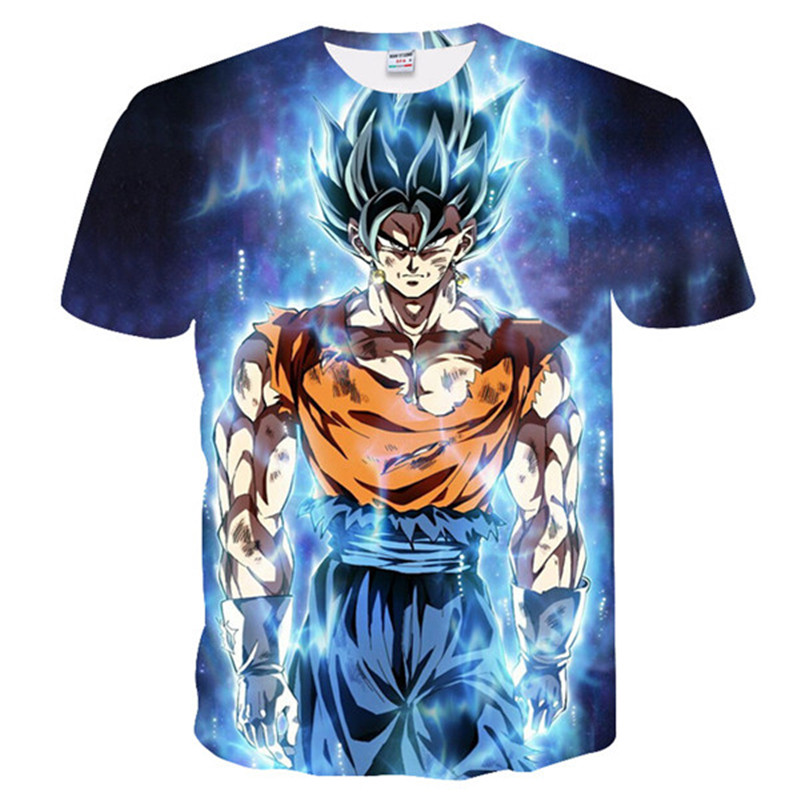 dcf94b18 New Dragon Ball Z T-shirts Mens Summer 3D Printing Super Saiyan Son Goku  Black Zamasu Vegeta Dragonball Casual T Shirt Tops Tee