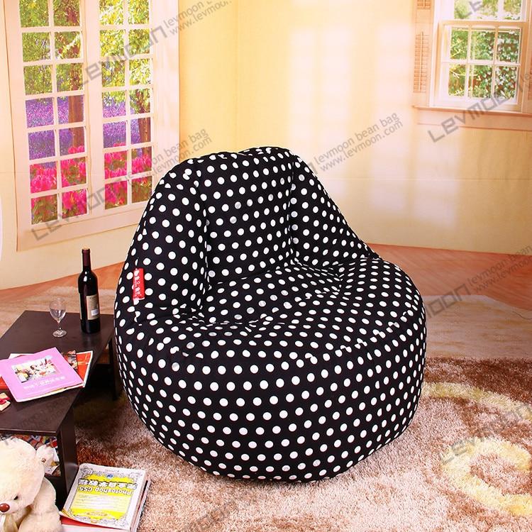Terrific Free Shipping Bean Bag Company 120Cm Black Dot Big Bean Bags Squirreltailoven Fun Painted Chair Ideas Images Squirreltailovenorg