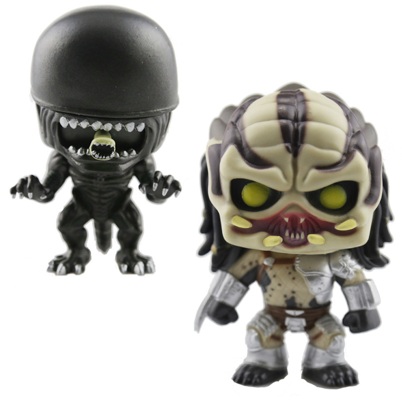 Alien Covenant ALIEN PREDATOR PVC Action Figure Bobble Head Q Edition For Car Decoration Vinyl Toys Loose Collectible Model Toys stealth edition predator alien ganso elders lone wolf mask film may be moving even hand model h28