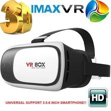 """¡ Caliente! jefe de Montaje de Plástico CAJA 2.0 Versión VR VR Gafas de Realidad Virtual Google Cartón 3d Película Juego para 3.5 """"-6.0"""" Teléfono inteligente"""