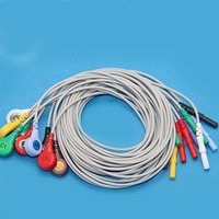 Holter cable 10 lead ECG leadwire, 4.0 snap