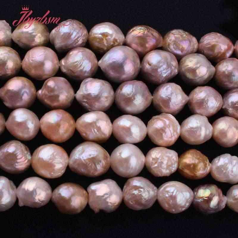"""9-10,13-16mm nearround keshi edsion pérola de água doce contas de pedra natural para diy colar jóias fazendo 14.5 """"frete grátis"""